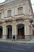 Restored Spanish colonial building in Riobabmba, Ecuador