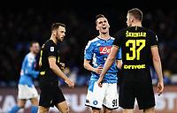 6th January 2020; Stadio San Paolo, Naples, Campania, Italy; Serie A Football, Napoli versus Inter Milan; Arkadiusz Milik of Napoli rues a missed chance on goal