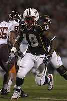 20 October 2005:  TE Vernon Davis (18)..The Virginia Tech Hokies defeated the Maryland Terrapins 28-9 at Byrd Stadium in College Park, MD.