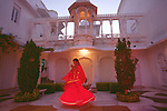 Indian dancer at Lake Palace
