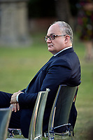 The Italian Minister of Economy Roberto Gualtieri at the press conference of the Italian Premier at Casino del Bel Respiro, Villa Pamphili, at the end of the General States of Economy. Rome (Italy), June 21st 2020<br /> Pool Paolo Tre/Insidefoto