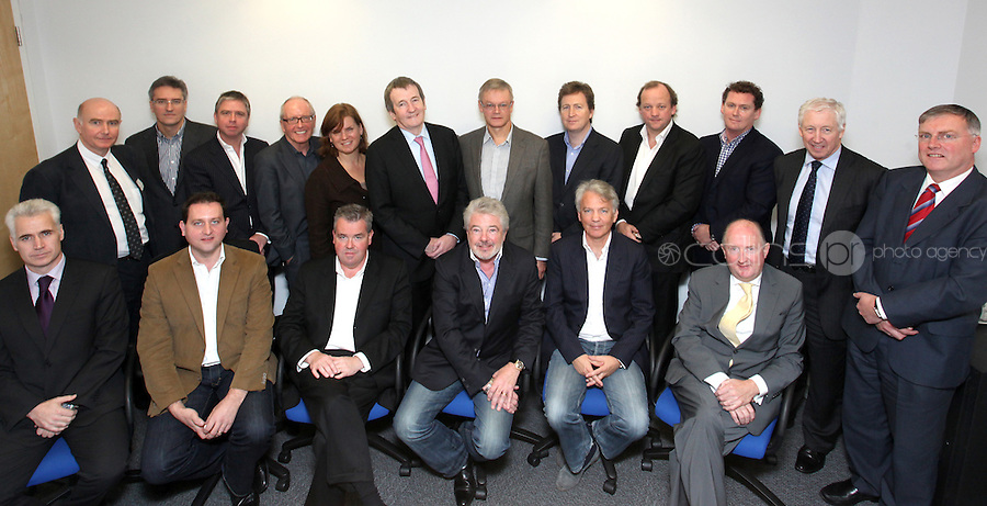 21/10/2010 John McColgan with business men & women during a meeting at Google's HQ on Barrow Street, Dublin. Photo: Gareth Chaney Collins