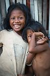 Two shy girls, Papagaran island, Komodo National Park