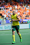 The Hague, Netherlands, June 15: Glenn Turner #4 of Australia prepares penalty corner during the field hockey gold match (Men) between Australia and The Netherlands on June 15, 2014 during the World Cup 2014 at Kyocera Stadium in The Hague, Netherlands. Final score 6-1 (2-1)  (Photo by Dirk Markgraf / www.265-images.com) *** Local caption ***