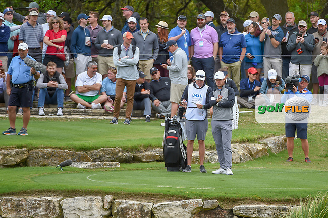 Lucas Bjerregaard (DEN) looks over his shot from the drop zone on 11 during day 4 of the WGC Dell Match Play, at the Austin Country Club, Austin, Texas, USA. 3/30/2019.<br /> Picture: Golffile | Ken Murray<br /> <br /> <br /> All photo usage must carry mandatory copyright credit (© Golffile | Ken Murray)