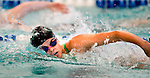 Cottonwood's Alicia May competes in the 100 yard free race during the 53rd annual Country Club Swimming Championships on Monday, Aug. 6, 2012, in Kearns, Utah. (© 2012 Douglas C. Pizac)