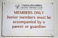 Members Only Signage during Worcestershire CCC vs Essex CCC, Specsavers County Championship Division 1 Cricket at Blackfinch New Road on 12th May 2018
