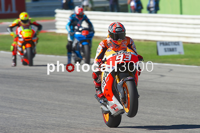 PHOTOCALL3000  Gran Premio TIM di San Marino during the moto world championship in Misano.<br /> 13-09-2014 in Misano world circuit Marco Simoncelli.<br /> MotoGP<br /> marc marquez<br /> PHOTOCALL3000