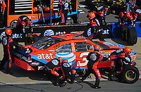 Oct 5, 2008; Talladega, AL, USA; NASCAR Sprint Cup Series driver Jeff Burton (31) pits during the Amp Energy 500 at the Talladega Superspeedway. Mandatory Credit: Mark J. Rebilas-