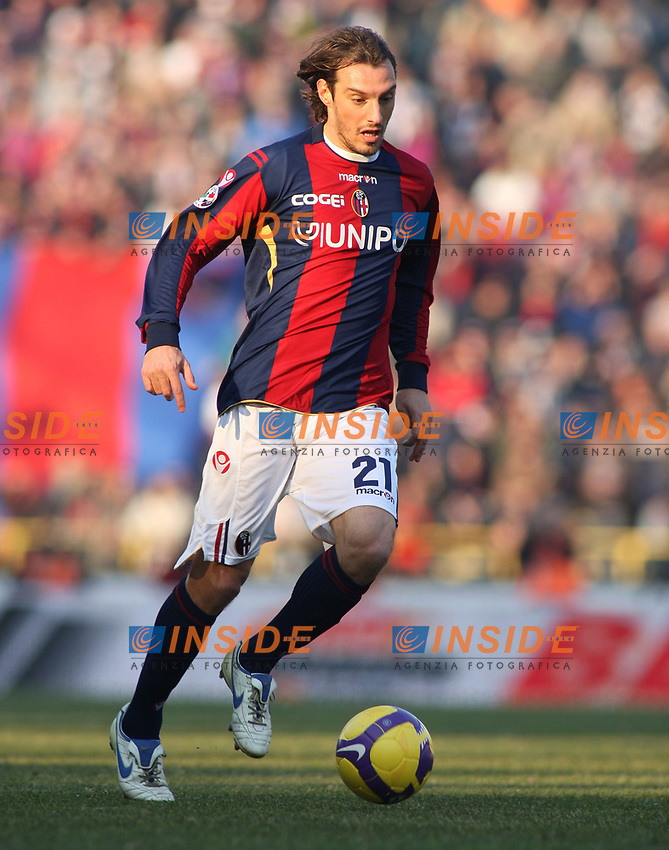 Bologna's Cristian Zenoni during their italian serie A soccer match at Dall'Ara Stadium in Bologna , Italy , February 21 , 2009 - Photo: Prater/Insidefoto ©