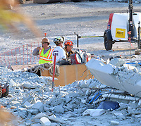 Recovery Efforts after Pedestrian Bridge Collapse in Miami