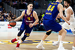 Sergio Llull of Real Madrid and Thomas Heurtel of FC Barcelona Lassa during Turkish Airlines Euroleague match between Real Madrid and FC Barcelona Lassa at Wizink Center in Madrid, Spain. December 13, 2018. (ALTERPHOTOS/Borja B.Hojas)
