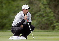 21 May, 2010:  Loyola College's Patrick McCormick looks over his putt on hole 11 during the first round of the NCAA West Regionals at Gold Mountain Golf Course in Bremerton, Washington.
