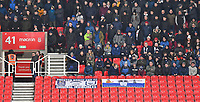 Preston North End fans<br /> <br /> Photographer Dave Howarth/CameraSport<br /> <br /> The EFL Sky Bet Championship - Stoke City v Preston North End - Wednesday 12th February 2020 - bet365 Stadium - Stoke-on-Trent <br /> <br /> World Copyright © 2020 CameraSport. All rights reserved. 43 Linden Ave. Countesthorpe. Leicester. England. LE8 5PG - Tel: +44 (0) 116 277 4147 - admin@camerasport.com - www.camerasport.com