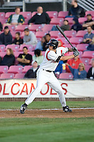 July 7, 2009: Salem-Keizer Volcanoes' Luke Anders at-bat during a Northwest League game against the Tri-City Dust Devils at Volcanoes Stadium in Salem, Oregon.