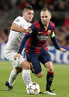FC BARCELONA v PARIS SAINT-GERMAIN.CHAMPIONS LEAGUE 2014/2015.