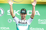 Peter Sagan (SVK) Bora-Hansgrohe takes over the points Green Jersey at the end of Stage 3 of the 2019 Tour de France running 215km from Binche, Belgium to Epernay, France. 8th July 2019.<br /> Picture: Colin Flockton | Cyclefile<br /> All photos usage must carry mandatory copyright credit (© Cyclefile | Colin Flockton)