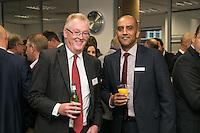 Ian Walker (left) and P K Patel of Handelsbanken