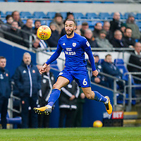 Jazz Richards of Cardiff City during the Sky Bet Championship match between Cardiff City and Sunderland at the Cardiff City Stadium, Cardiff, Wales on 13 January 2018. Photo by Mark  Hawkins / PRiME Media Images.