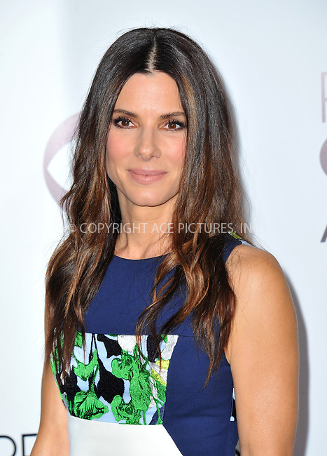 WWW.ACEPIXS.COM<br /> <br /> <br /> January 8, 2014, Los Angeles, CA.<br /> <br /> Sandra Bullock arriving atThe 40th Annual People's Choice Awards held at Nokia Theatre L.A. Live on January 8, 2014 in Los Angeles, California. <br /> <br /> <br /> <br /> <br /> <br /> <br /> By Line: Peter West/ACE Pictures<br /> <br /> ACE Pictures, Inc<br /> Tel: 646 769 0430<br /> Email: info@acepixs.com
