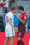 Thomas Muller (GER), Pepe (POR), JUNE 16, 2014 - Football / Soccer : Portugal's Pepe (R) clashes with Germany's Thomas Muller and is later sent off during the FIFA World Cup Brazil 2014 Group G match between Germany 4-0 Portugal at Arena Fonte Nova in Salvador, Brazil. (Photo by Maurizio Borsari/AFLO)