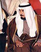 His Highness the Amir, Shaykh Jabir al-Ahmad al-Jabir Al Sabah of the State of Kuwait is visited by United States Secretary of Defense William S. Cohen at Bayan Palace in Kuwait City, Kuwait on February 9, 1998.<br /> Mandatory Credit: Helene C. Stikkel / DoD via CNP