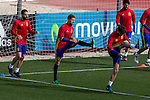 Spainsh Daniel Carvajal, Inigo Martíne during the training of the spanish national football team in the city of football of Las Rozas in Madrid, Spain. November 09, 2016. (ALTERPHOTOS/Rodrigo Jimenez)