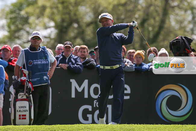 Soren Kjeldsen (DEN) during Round One of the 2016 Dubai Duty Free Irish Open Hosted by The Rory Foundation which is played at the K Club Golf Resort, Straffan, Co. Kildare, Ireland. 19/05/2016. Picture Golffile | David Lloyd.<br /> <br /> All photo usage must display a mandatory copyright credit as: &copy; Golffile | David Lloyd.