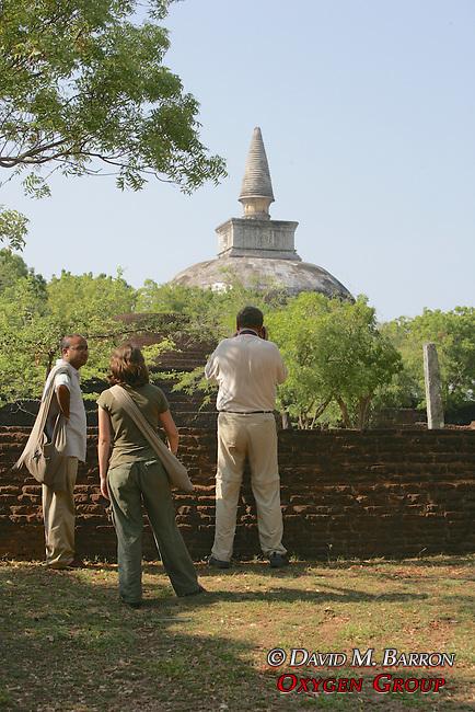 Chandan, Rachel & Roger Viewing Kiri Vihara