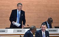 Fussball International Ausserordentlicher FIFA Kongress 2016 im Hallenstadion in Zuerich 26.02.2016 Wolfgang NIERSBACH (li, Deutschland, FIFA-Exekutivkomitee)