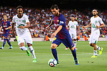 52e Trofeu Joan Gamper.<br /> FC Barcelona vs Chapecoense: 5-0.<br /> Lucas Mineiro vs Lionel Messi.