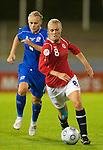 Solveig Guldbrandsen and Edda Gardarsdottir, Womens' EURO 2009 in Finland.Iceland-Norway, 08272009, Lahti
