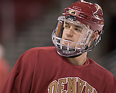 Andrew Thomas - Reigning national champions (2004 and 2005) University of Denver Pioneers practice on Friday morning, December 30, 2005 before hosting the Denver Cup at Magness Arena in Denver, CO.