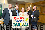 l-r  Ger Breen, Shane O'Sullivan, Catherine Collins, Michelle O'Sullivan and Dimphna O'Sullivan supporting Danielle O'Sullivan at the Rose Selection on Friday night at Ballyroe Heights Hotel
