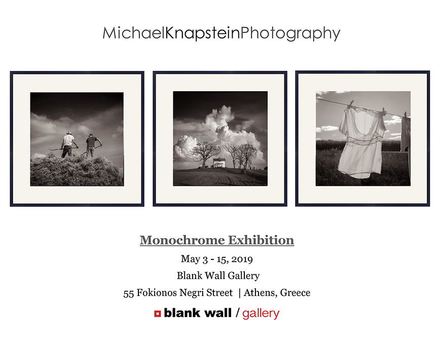 Three photographs by Michael Knapstein were selected for an international juried exhibition at the Blank Wall Gallery in Athens, Greece.