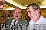1666-1672.Tom Sheehan (FG) and Tom Fleming (FF) chat about the fourth count results at the South Kerry count in The Malton Hotel, Killarney, last Friday...