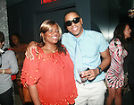 "Nichelle ""Nikki D"" Strong and BJ Coleman Attend Vivica A. Fox Hosts Private Celebration for the 31st Birthday of Publicist BJ Coleman and the Launch of www.burgersandbourbon.com Sponsored by Pisco Portón,  at The Marcel Hotel's Polar Lounge,NY 8/25/11"