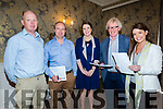 On Thursday in the Rose Hotel,Tralee Kerry Law Society who held a all day seminar t the seminar, Canice Walsh, Niall Lucey,  Aisling Meehan (Guest speaker on Agri Lands), John Galvin (chairman Kerry law Society) and Anne Keane.