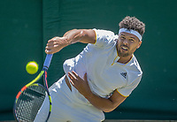 London, England, 5 th July, 2017, Tennis,  Wimbledon,  Jo-Wilfried Tsonga (FRA)<br /> Photo: Henk Koster/tennisimages.com