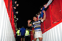 Jonathan Joseph of Bath Rugby leaves the field after the match. Aviva Premiership match, between Gloucester Rugby and Bath Rugby on March 26, 2016 at Kingsholm Stadium in Gloucester, England. Photo by: Patrick Khachfe / Onside Images