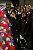 Washington, D.C. - October 30, 2005 -- Mourners gather to view the casket of civil rights icon Rosa Parks, whose remains lie in honor in the United States Capitol Rotunda in Washington, D.C. on  October 30, 2005. At right is actress Cicely Tyson..Credit: Martin H. Simon - Pool via CNP