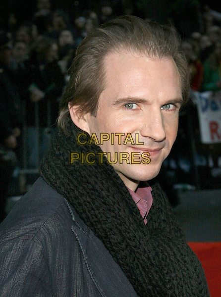"""RALPH FIENNES.The NY premiere of """"Harry Potter and the Goblet of Fire"""" at Ziegfeld Theatre, New York, NY..November 12th, 2005.Photo: Jackson Lee/Admedia/Capital Pictures.Ref: JL/ADM.headshot portrait.www.capitalpictures.com.sales@capitalpictures.com.© Capital Pictures."""