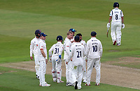 Essex players celebrate at Liam Banks leaves the field during Warwickshire CCC vs Essex CCC, Specsavers County Championship Division 1 Cricket at Edgbaston Stadium on 10th September 2019
