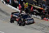 Noah Gragson, Kyle Busch Motorsports, Toyota Tundra Safelite , makes a pit stop.