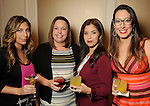 From left: Adriana Valecillos, Lindsey Rodriguez, Noemy Carreon and Gloria Alfaro at the Touchdown for TEACH gala at the River Oaks Country Club Tuesday Nov. 10, 2015.(Dave Rossman photo)