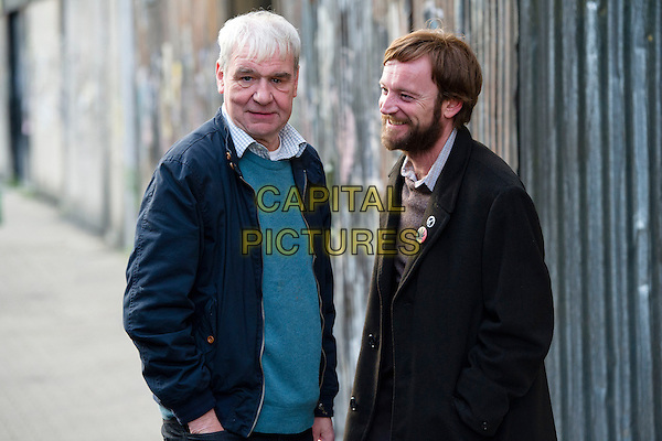 Terri Hooley & Richard Dormer .in Good Vibrations (2012) .*Filmstill - Editorial Use Only*.CAP/NFS .Supplied by Capital Pictures.