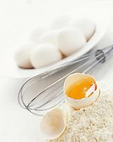 Gastronomie générale / Cuisine générale /Patisserie:  Oeuf, Fouet et farine