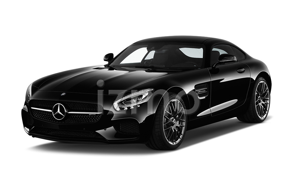 2017 Mercedes Benz AMG-GT - 3 Door Coupe Angular Front stock photos of front three quarter view