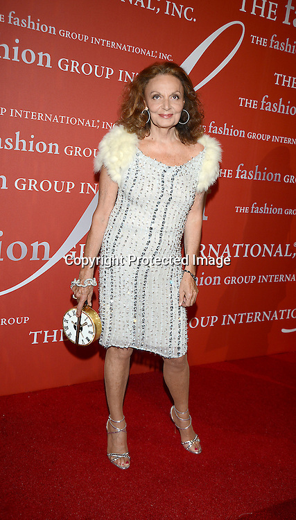 Diane von Furstenberg attends the Fashion Group International's Night of Stars Gala on October 22, 2013 at Cipriani Wall Street in New York City.