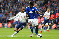 Bruno Ecuele Manga of Cardiff City and Lucas of Tottenham Hotspur during Tottenham Hotspur vs Cardiff City, Premier League Football at Wembley Stadium on 6th October 2018